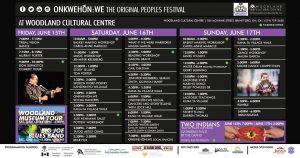 Original People's Festival Schedule
