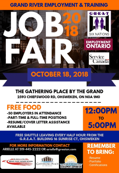 Grand River Employment & Training Job Fair - Fall 2018