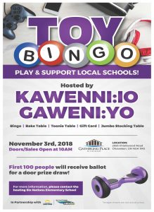 Six Nations Bingo Presents Toy Bingo in Support of Kawenn:io