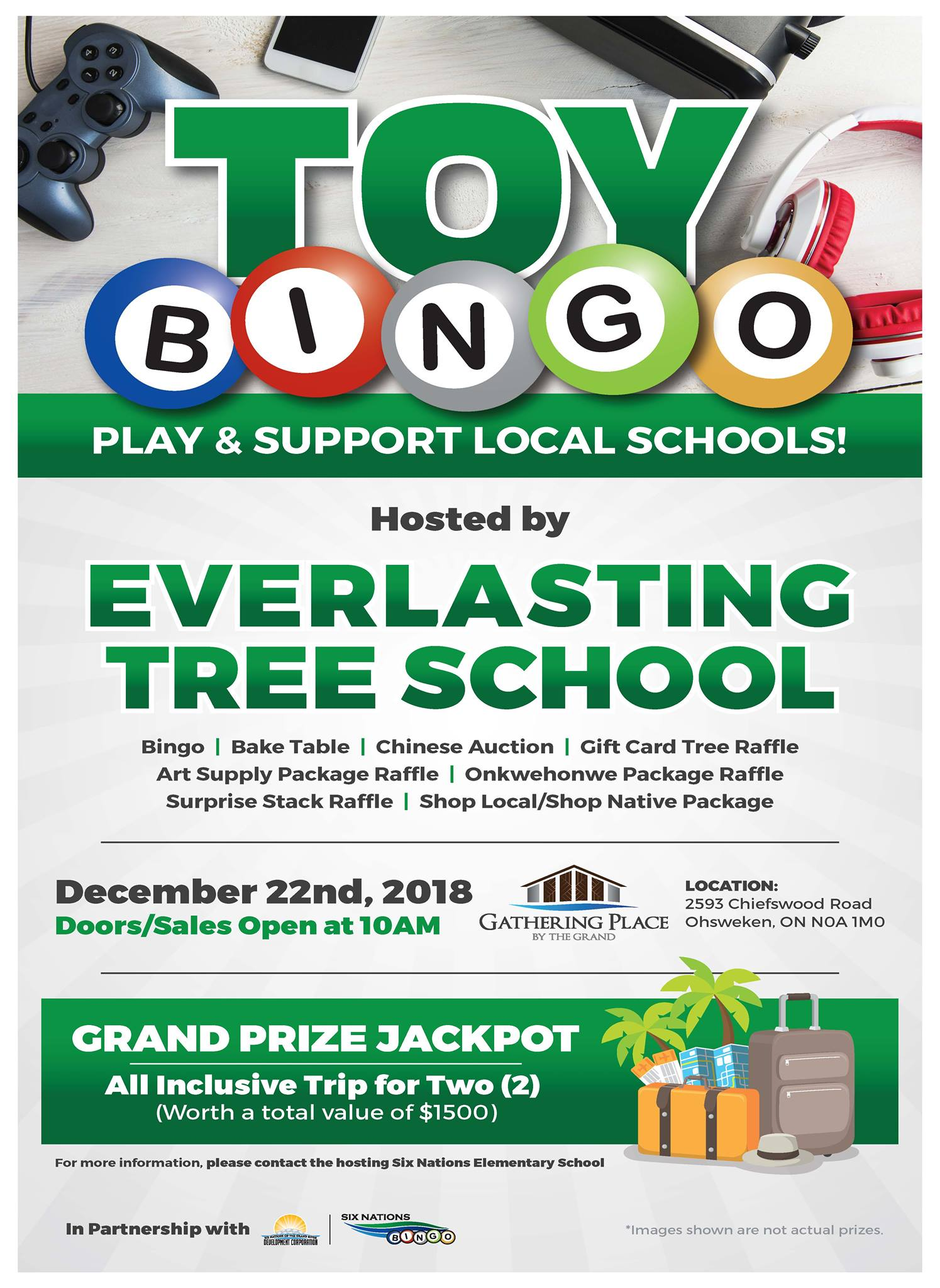 Six Nations Bingo Presents Toy Bingo in Support of Everlasting Tree School