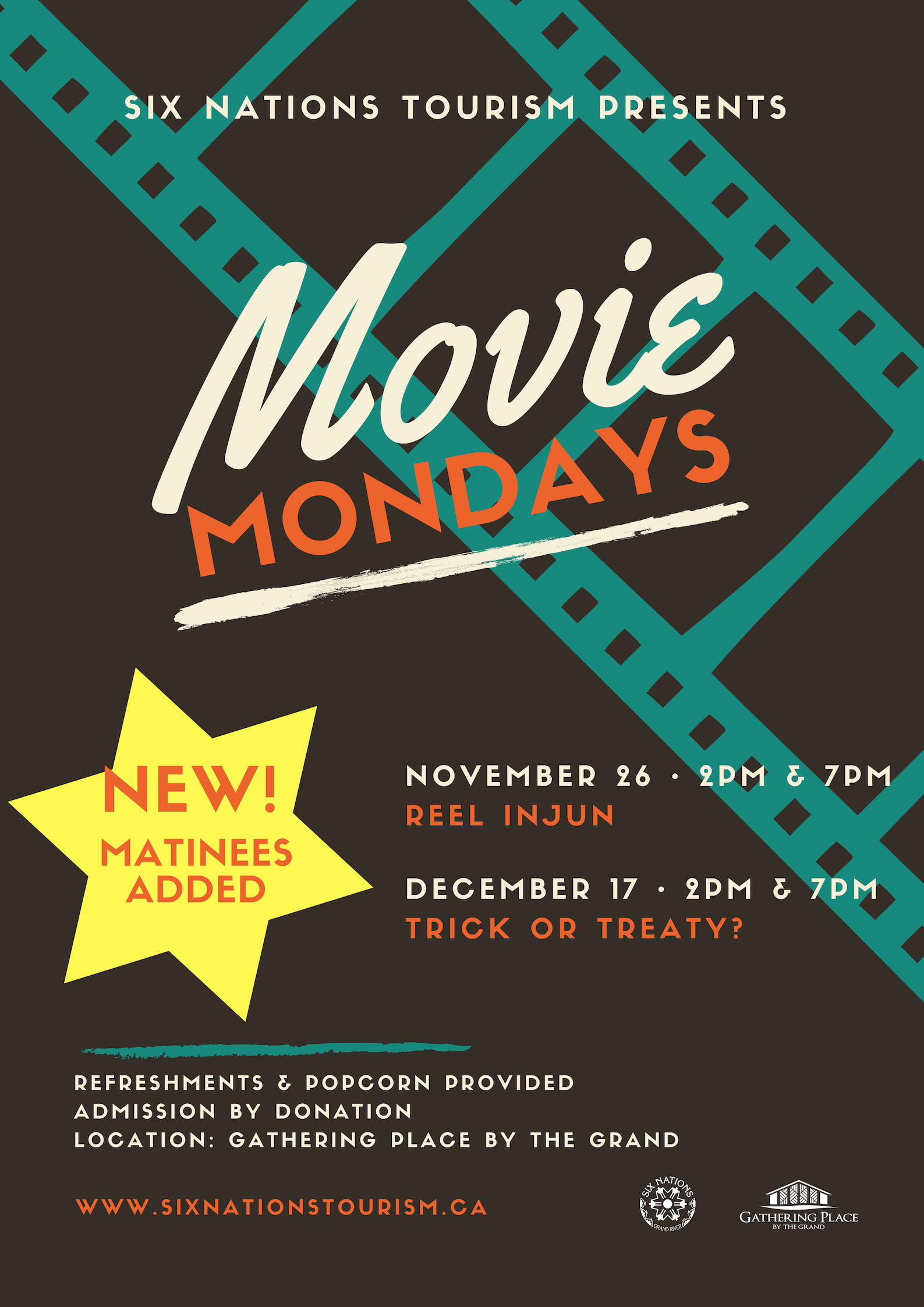 Six Nations Tourism Presents Movie Mondays Matinees Added