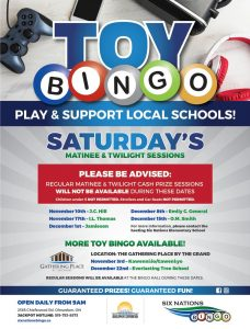 Six Nations Bingo - Toy Bingo Dates