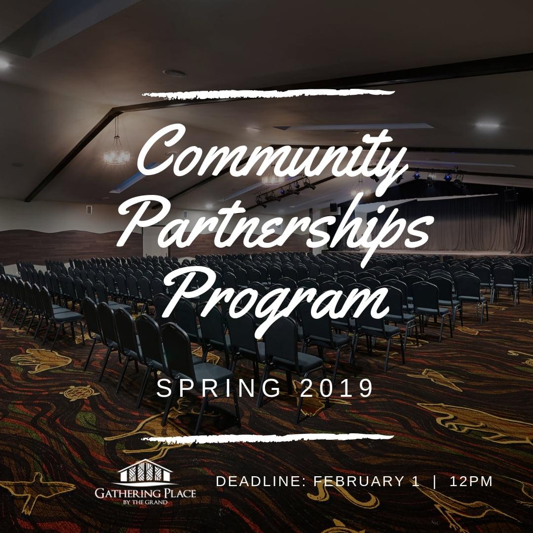 Community Partnerships Program - Spring 2019
