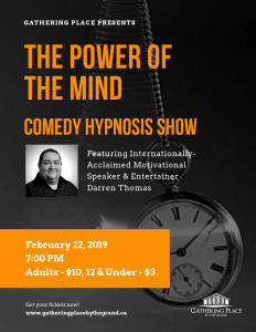 The Power of the Mind: Comedy Hypnosis Show Poster