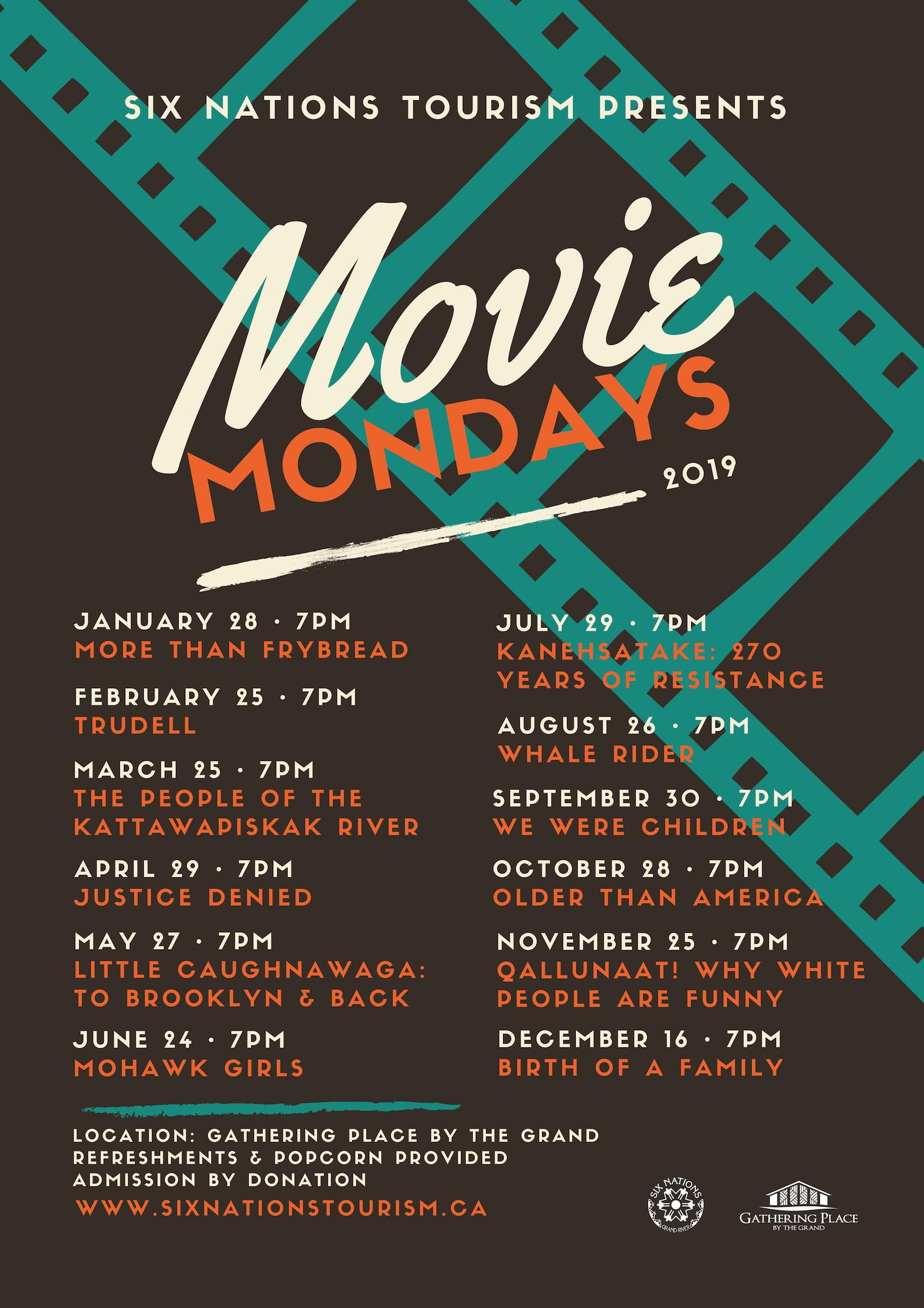 Six Nations Tourism Presents Movie Mondays 2019