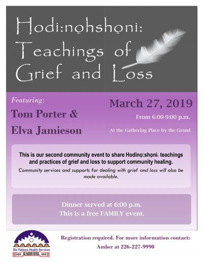 Hodi:nohshoni: Teachings of Grief and Loss Poster
