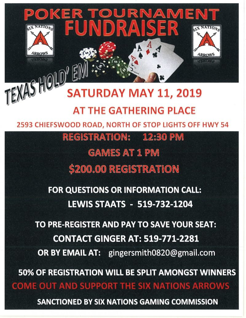 Six Nations Arrows Texas Holdem Poker Tournament