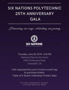Six Nations Polytechnic 25th Anniversary Gala Poster
