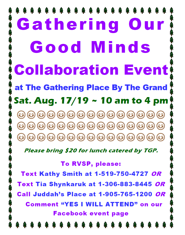 Gathering Our Good Minds Event Poster