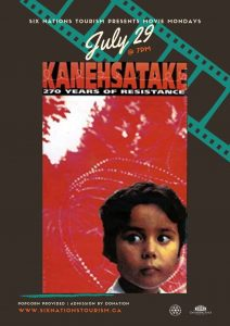 Six Nations Tourism Presents Movie Monday: Kanehsatake 270 Years of Resistance Poster