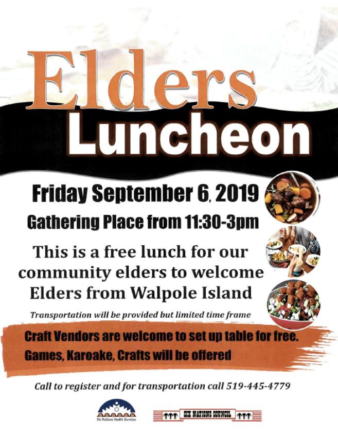 SNHS Elders Luncheon Poster