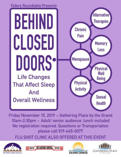 Elders Roundtable: Behind Closed Doors Event Poster 2019